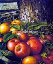 Apples and Tree Trunk