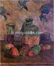 Apples, Jug, Iridescent Glass - Paul Gauguin