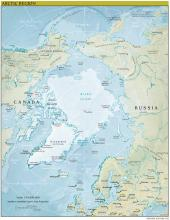 Arctic Region Map - Physical - Map Collection