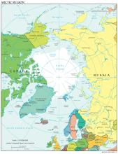 Arctic Region Map - Political - Map Collection