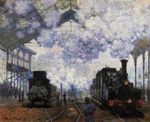 Arrival at Saint-Lazare Station - Claude Oscar Monet