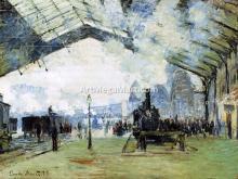 Arrival of the Normandy Train, Gare Saint-Lazare - Claude Oscar Monet