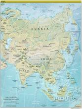 Asia Map - Physical - Map Collection