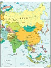 Asia Map - Political - Map Collection