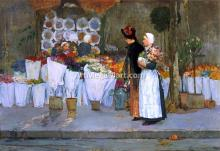 At the Florist - Frederick Childe Hassam