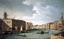 At the Grand Canal with the Fabbriche Nuove at Rialto