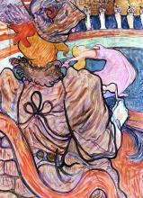 At the Nouveau Cirque: the Dancer and Five Stuffed Shirts - Henri De Toulouse-Lautrec