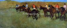 At the Races - Before the Start - Edgar Degas