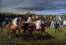 At the Races: the Start - Edgar Degas