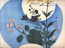 Autumn Flower in Front of Full Moon -  Hiroshige
