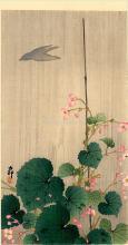 Bird and Begonias - Ohara Koson