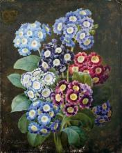 Bouquet D'Auriculae Roses - Pierre-Joseph Redoute