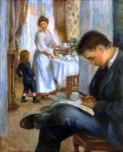 Breakfast at Berneval - Pierre Auguste Renoir