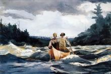 Canoe in the Rapids - Winslow Homer