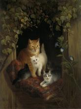 Cat with Kittens - Henriette Ronner-Knip