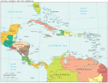Central America Map - Political - Map Collection