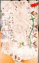 Chart of the Mediterranean, 1466 - Vintage Map Collection