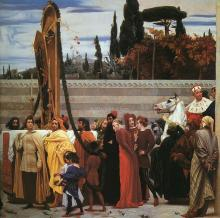 Cimabue's Celebrated Madonna is Carried in Procession through the Streets of Florence, detail of right half - Lord Frederick Leighton