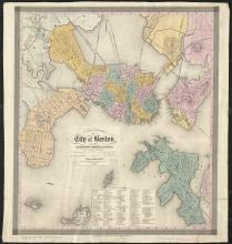 City of Boston Map, 1839 - Vintage Map Collection