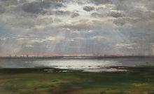 Coastal Landscape at Sunset - Carl Frederic Aagaard