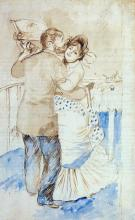 Country Dance (study) - Pierre Auguste Renoir