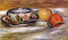 Cup, Lemon and Tomato - Pierre Auguste Renoir