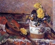 Dahlias and Mandolin - Paul Gauguin
