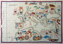 Diogo Homem, 1563 - Vintage Map Collection
