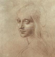 Drawing Of The Face Angel From Virgin Rocks