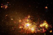 Fireworks of Star Formation Light Up a Galaxy -  NASA