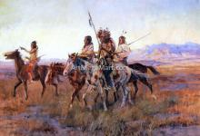 Four Mounted Indians