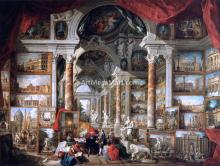 Gallery of Views of Modern Rome - Giovanni Paolo Pannini