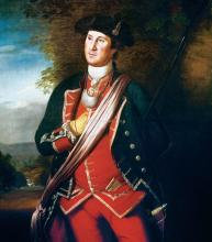 George Washington in Uniform as Colonel of the First Virginia Regimen - Charles Willson Peale