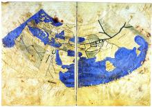 Greek Ptolemy World Map in Conic Projection, c. 1300 - Vintage Map Collection