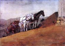 Hilltop Barn - Winslow Homer