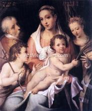 Holy Family with the Infant St John the Baptist and St Catherine of Alexandria