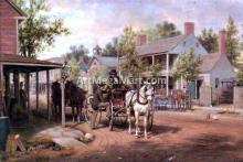 Horse and Buggy on Main Street - Edward Lamson Henry