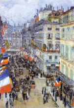 July Fourteenth, Rue Daunou - Frederick Childe Hassam