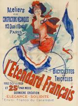 L Etendard Fran Ais Quai D Orsay Bicycle Shop - Jules Cheret
