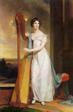 Lady with Harp, a Portrait of Eliza Ridgel