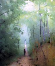 Landscape at Fontainebleau Forest