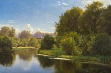 Landscape with a Stream - Carl Frederic Aagaard