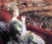 Madame Edmond Picard in Her Box at Theatre de la Monnaie