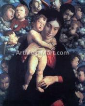 Madonna and Child with Cherubs