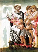 Madonna and Child with St John and Angels - Michelangelo Buonarroti