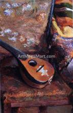 Mandolin on a Chair - Paul Gauguin