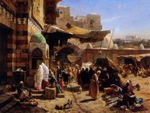 Market at Jaffa - Gustav Bauernfeind