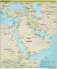 Middle East Map - Physical - Map Collection