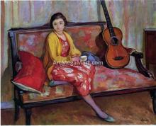Nono and a Guitar - Henri Lebasque