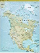 North America Map - Physical - Map Collection